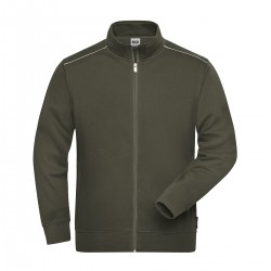 Felpa JAMES & NICHOLSON JN894 M. Work Sweat-Jacket 70%C 30%P
