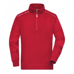 Felpa JAMES & NICHOLSON JN895 Work Half-zip Sweat 70%C 30%P