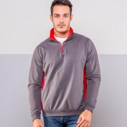 Felpa COLORE ITALIANO MI809 Unisex Half zip sweatshirt 100%C Manica lunga,Setin