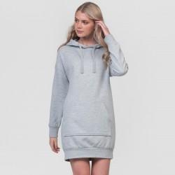 Felpa AWDIS JUST HOODS JH015 Donna Hoodie Dress 80%C 20%P Manica lunga,Setin