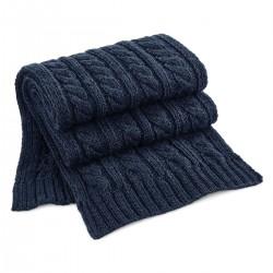 Guanti, sciarpe BEECHFIELD B499 Cable Knit Melange Scarf100%A