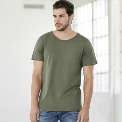 T-Shirt BELLA+CANVAS BE3014 Uomo Men's Jersey Raw Neck T 100%C Manica corta,Setin