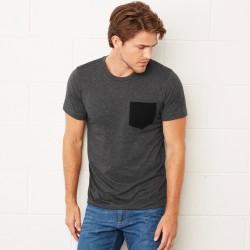 T-Shirt BELLA+CANVAS BE3021 Uomo JERSEY POCKET TEE 100% C Manica corta,Setin