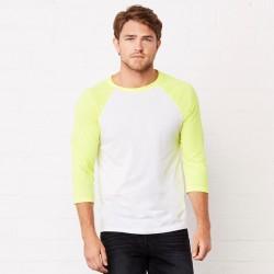 T-Shirt BELLA+CANVAS BE3200 Unisex,Uomo,Donna UNISEX 3/4 BASEBALL 52%C 48%P Manica 3/4,Raglan