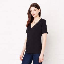 T-Shirt BELLA+CANVAS BE6035 Donna WOMEN JERSEY V-NECK TEE 100% C Manica corta,Setin