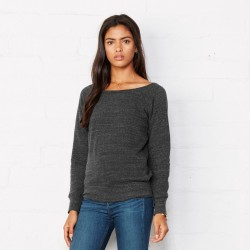 Felpa BELLA+CANVAS BE7501 Donna SPONGE SWEAT 50%P37,5%C 12,5%R Manica lunga,Setin