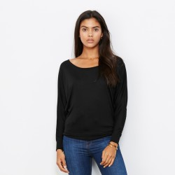 T-Shirt BELLA+CANVAS BE8850 Donna FLOWY LONG SLEEVE 65% P 35% V Manica lunga,Setin
