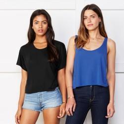 T-Shirt BELLA+CANVAS BE8880 Donna FLOWY BOXY TANK 65% P 35% V Senza maniche,Setin