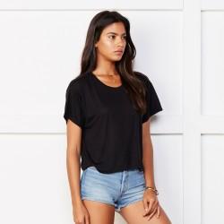 T-Shirt BELLA+CANVAS BE8881 Donna FLOWY BOXY TEE 65% P 35% V Manica corta,Setin