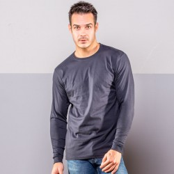 T-Shirt BS BS100 Uomo T-shirt LS with cuffs 100%C Manica lunga,Setin