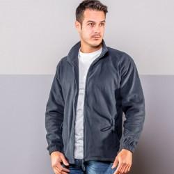 Pile BS BS361 Unisex Men's Zip Fleece 100%P Manica lunga,Setin