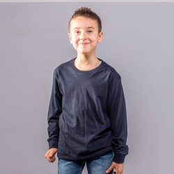 T-Shirt BS BSK100 Bambino Boys LS tee with cuffs 100%C Manica lunga,Setin