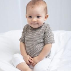 T-Shirt BABYBUGZ MABZ45 Baby Baby Striped T 100%C Manica corta,Setin
