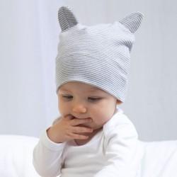 Cappello BABYBUGZ MABZ51 Baby Hat with ears 100%C