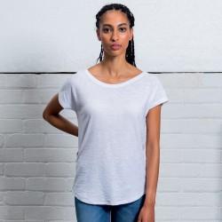 T-Shirt MANTIS MAM123 Donna Women's Slub Loose FitT 100%C Manica corta,Setin