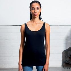 T-Shirt MANTIS MAM72 Donna WOM LONG LENGHT VEST 100%RINGS Senza maniche,Setin