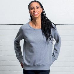 Felpa MANTIS MAM77 Donna Wom Favour Sweatshirt 80%C20%P Manica lunga,Raglan