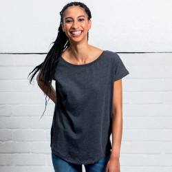 T-Shirt MANTIS MAM91 Donna Women's Loose Fit Tee 100%C Manica corta,Setin