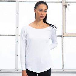 T-Shirt MANTIS MAM97 Donna W LOOSE FIT LONG SLEEVE 100%C Manica lunga,Setin