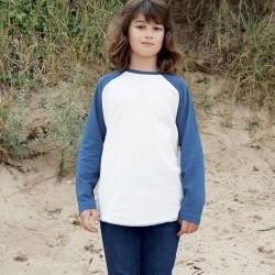 T-Shirt MANTIS KIDS MAMK16 Bambino Kids Superstar Baseball 100%C Manica lunga,Raglan