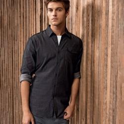 Camicia PREMIER PR222 Uomo Men Jeans St.Denim Shirt100%C Manica lunga