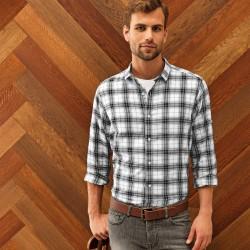 Camicia PREMIER PR254 Uomo Ginmill Check - Mens Shirt 100 Manica lunga