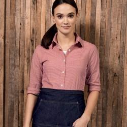 Camicia PREMIER PR320 Donna Ladies Microcheck ls shirt 100 Manica lunga