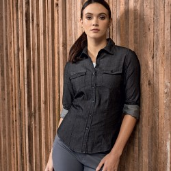Camicia PREMIER PR322 Donna Ladie Jeans St.Denim Sh.100%C Manica lunga