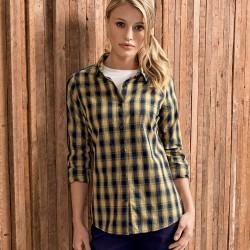 Camicia PREMIER PR350 Donna Mulligan Check - Ladies' Shirt Manica lunga