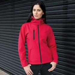 Soft shell RESULT RER230F Donna Soft Shell Jacket 93%P 7%E Manica lunga