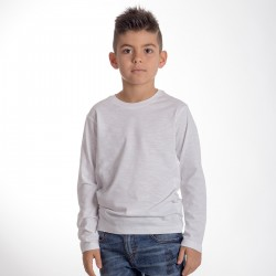 T-Shirt BS SLUBK03 Bambino T-SHIRT KID M/L 100%C SLUB Manica lunga,Setin