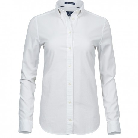 Camicia TEE JAYS TJ4001 Donna Ladies Perfect Oxf Shirt 100%C Manica lunga