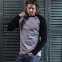T-Shirt TEE JAYS TJ5072 Uomo Baseball Tee 100%C Manica lunga,Raglan