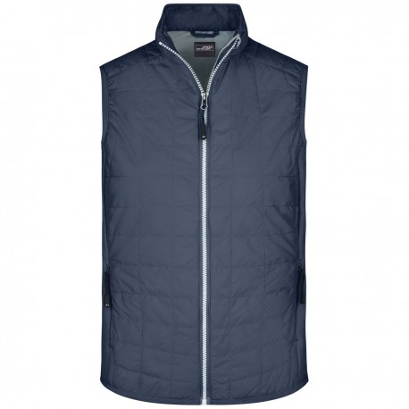 Giacca JAMES & NICHOLSON JN1114 Uomo Men's Hybrid Vest 92%P 8%E Senza maniche