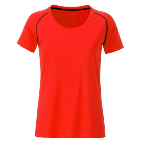 T-Shirt JAMES & NICHOLSON JN495 Donna Ladies' Sports T-Shirt 100%P Manica corta,Raglan