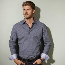 "Camicia JAMES & NICHOLSON JN670 Uomo Men's Shirt ""Diamonds""100%C"