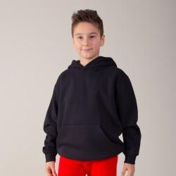Felpa BS BSK332 Bambino Kids Hooded 70%C30%P Manica lunga,Setin