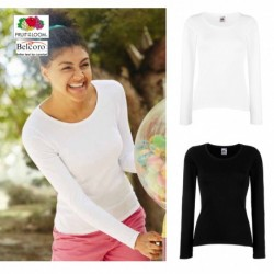T-SHIRT VALUEWEIGHT DONNA FRUIT OF THE LOOM  TUTTI I COLORI MAGLIA FR614040 LADY FIT SAGOMATA 100% COTONE
