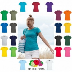 T-SHIRT FRUIT DONNA LADY FIT SAGOMATA  ORIGINAL T  FR614200 MANICA CORTA 100%COTONE