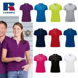 POLO RUSSELL DONNA JE566F MANICA CORTA STRETCH MEN 95%COT.5%LYCR