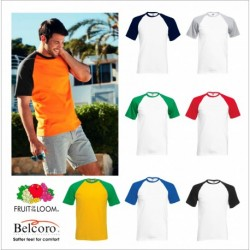 FRUIT BASEBALL MANICA CORTA FR610260 100%COTONE