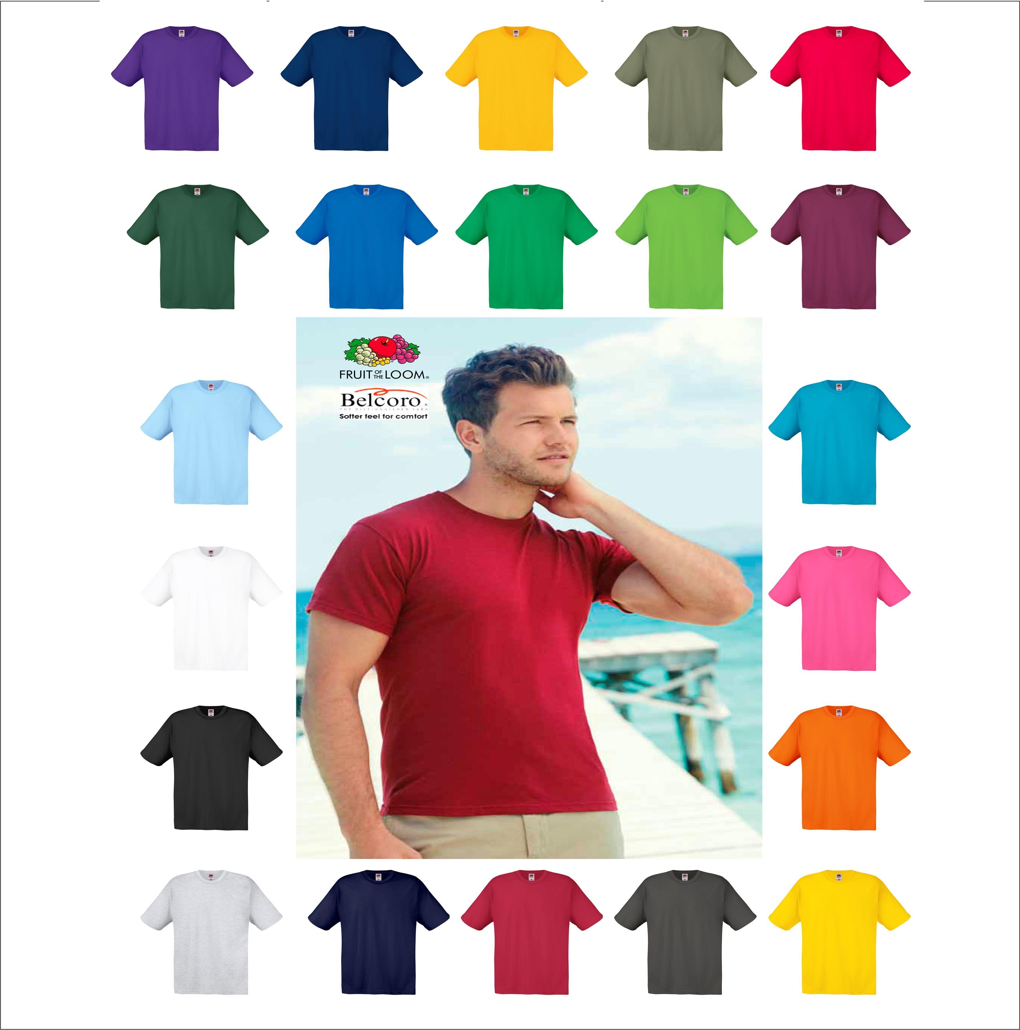 Shirt Tutti Manica Corta The Fruit T Of Loom Uomo Colori Fr61082 I PXikuOZ