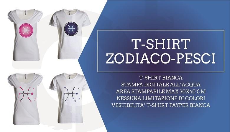 t-shirt personalizzata Payper oroscopo pesci